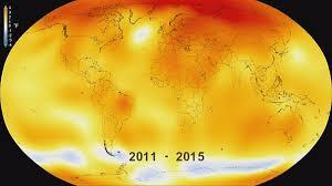 سال ۲۰۱۵ گرمترین سال ثبت شده در تاریخ هواشناسی
