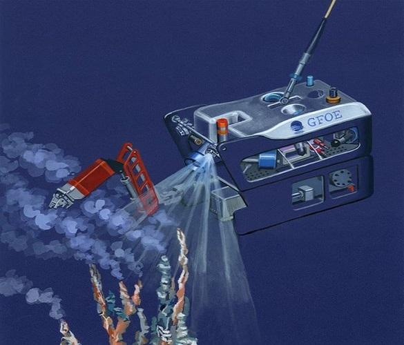 طراحی ربات کاوشگر برای کاوش در اعماق آبها