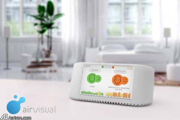 نظارت بر کیفیت هوا با گجت هوشمند «ایرویژوال نود»