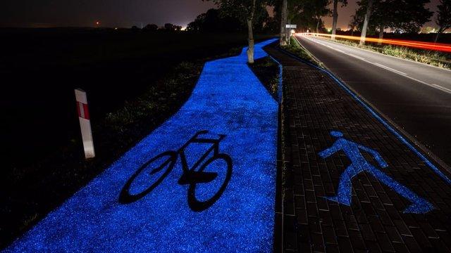 روشنایی مسیرهای دوچرخه سواری با فناوری جدید